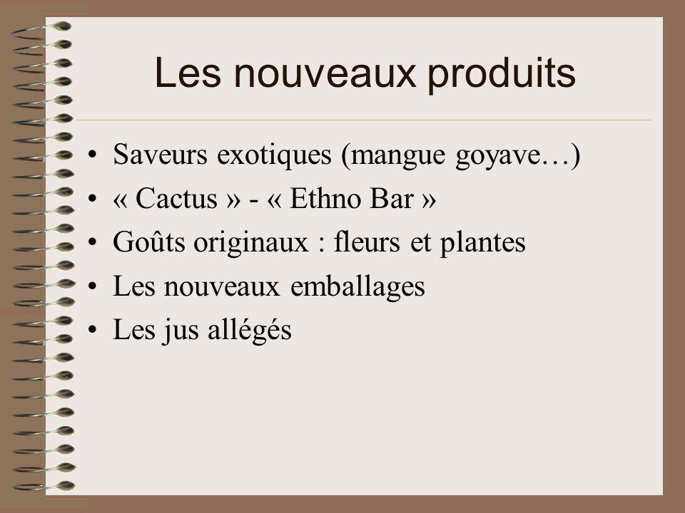 Les nouveaux produits Saveurs exotiques (mangue goyave…)
