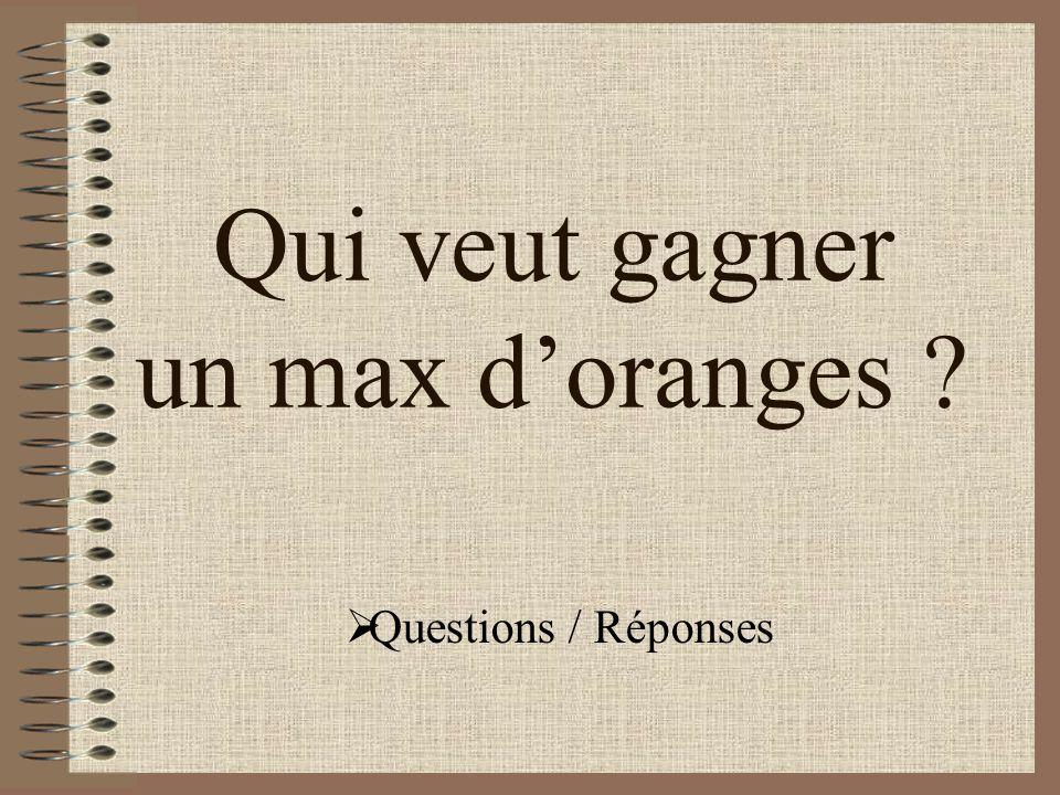 Qui veut gagner un max d'oranges