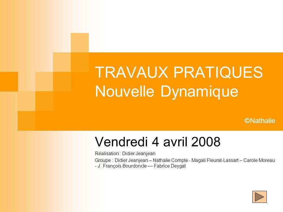 TRAVAUX PRATIQUES Nouvelle Dynamique