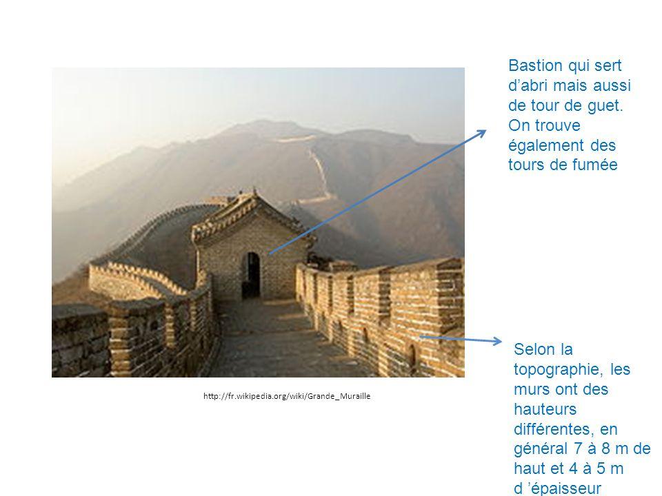 Bastion qui sert d'abri mais aussi de tour de guet