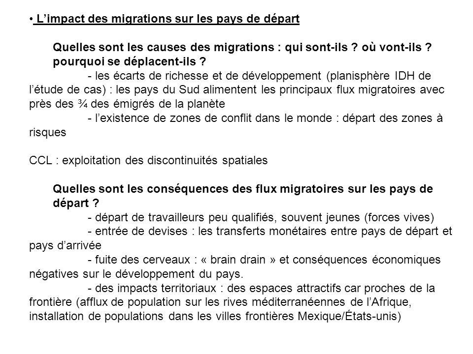 L'impact des migrations sur les pays de départ