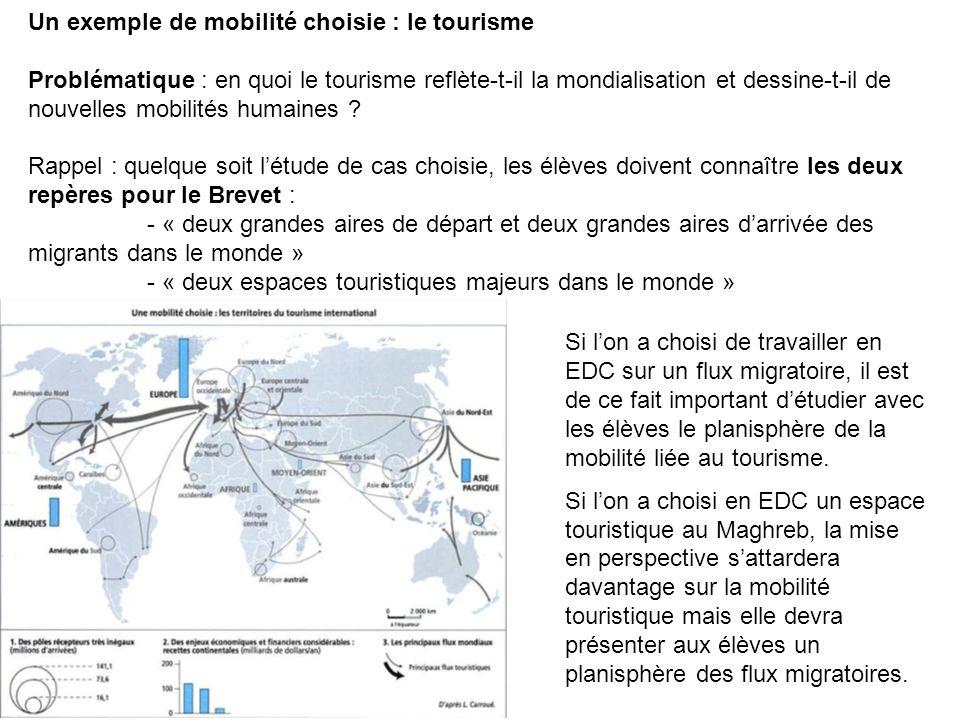 Un exemple de mobilité choisie : le tourisme