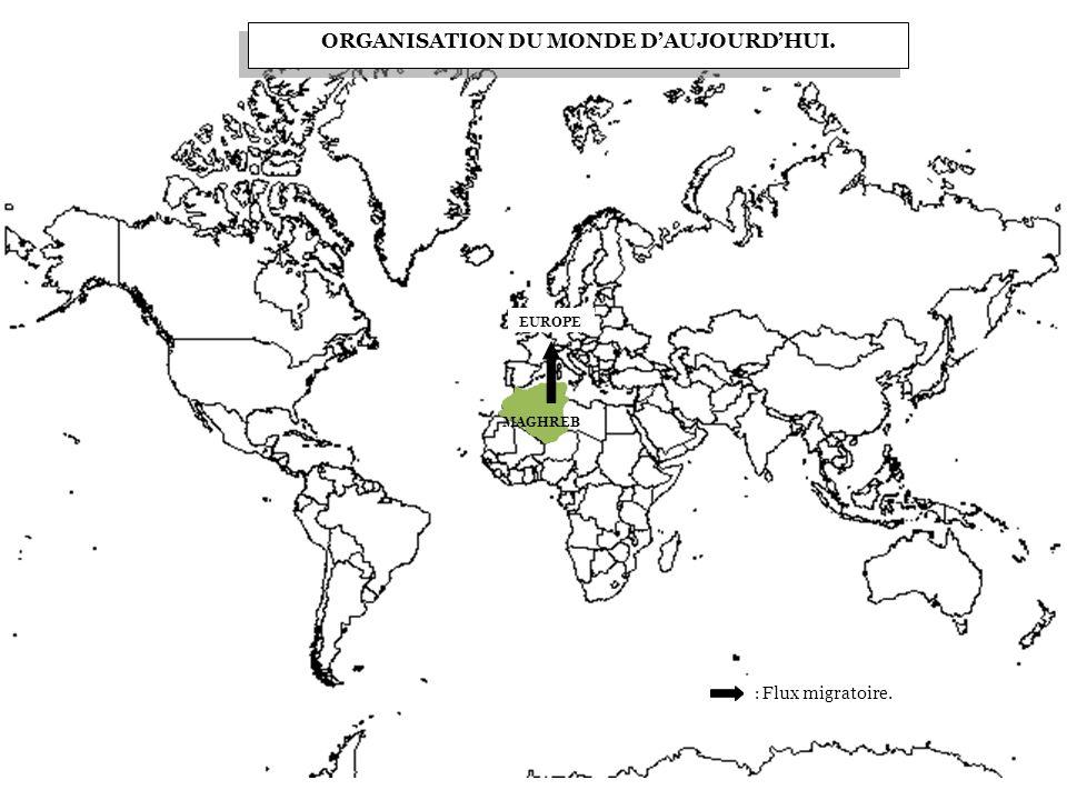 ORGANISATION DU MONDE D'AUJOURD'HUI.