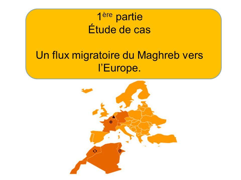 Un flux migratoire du Maghreb vers l'Europe.
