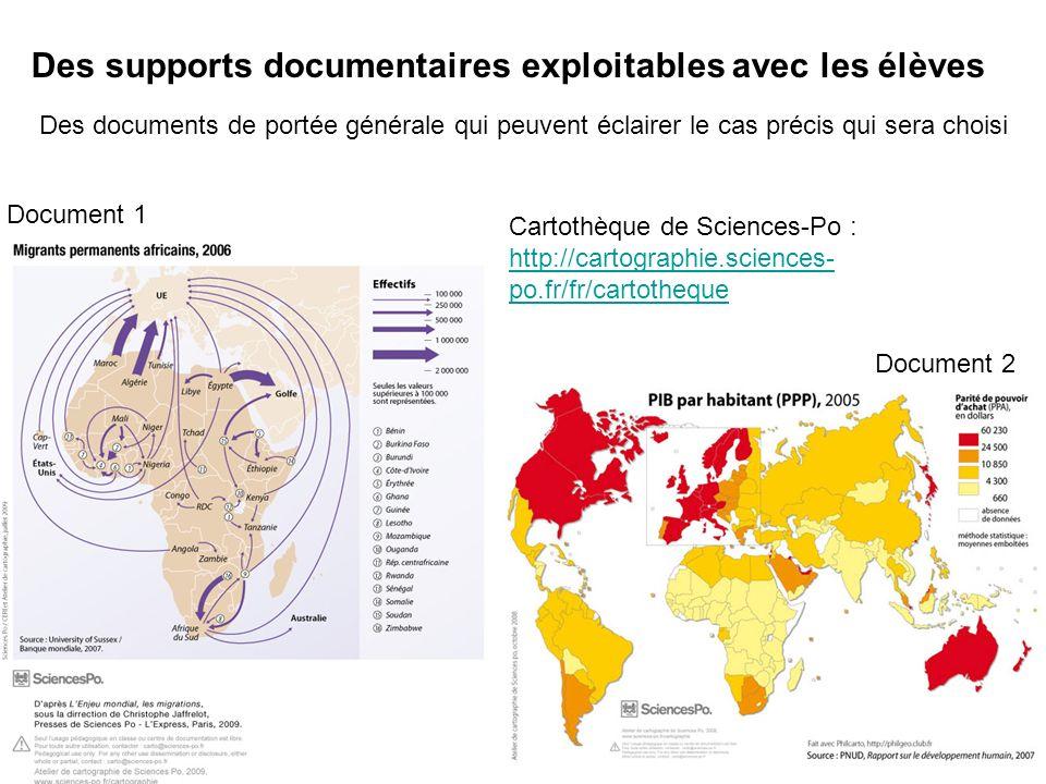 Des supports documentaires exploitables avec les élèves