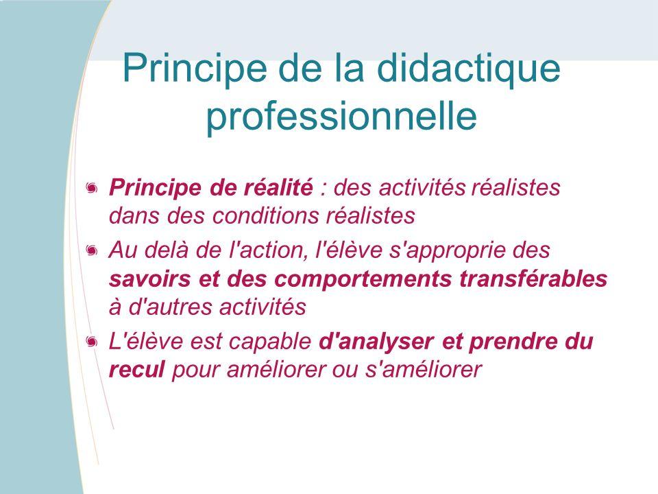 Principe de la didactique professionnelle