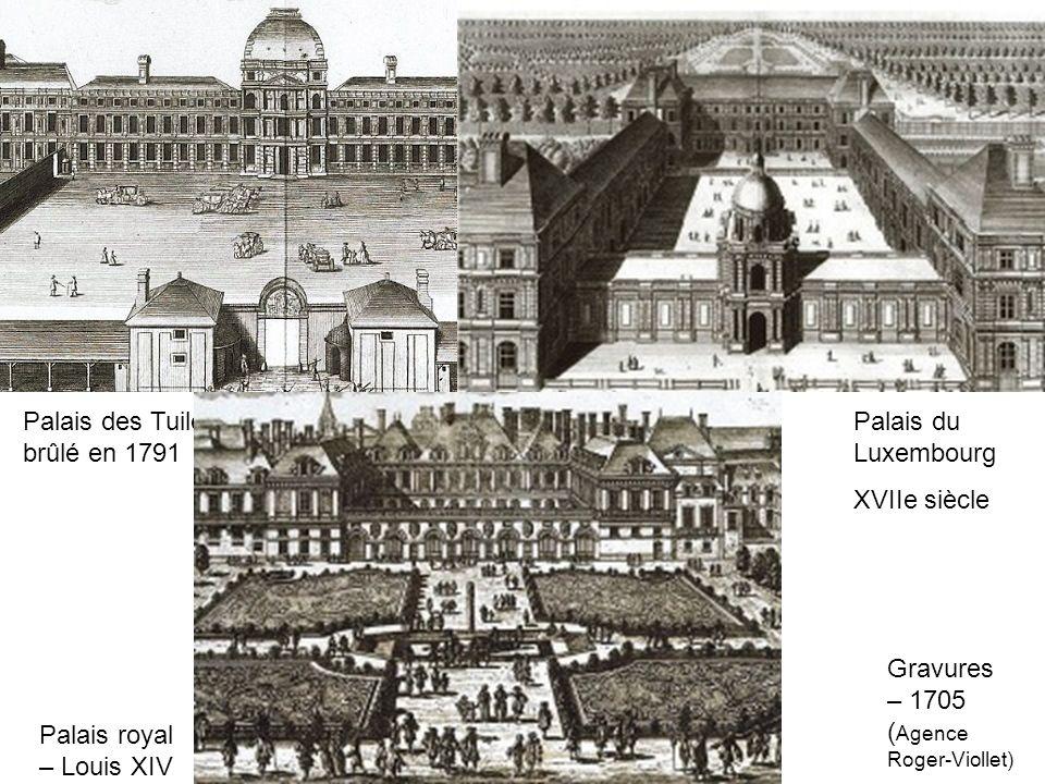 Palais des Tuileries XVIe siècle – brûlé en 1791
