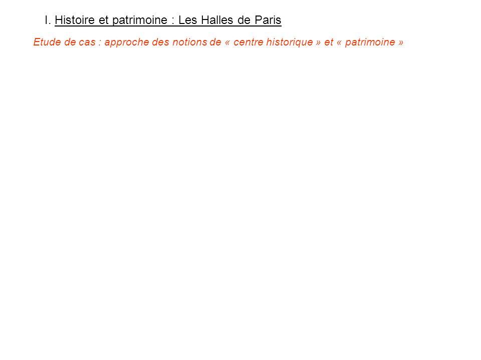 I. Histoire et patrimoine : Les Halles de Paris