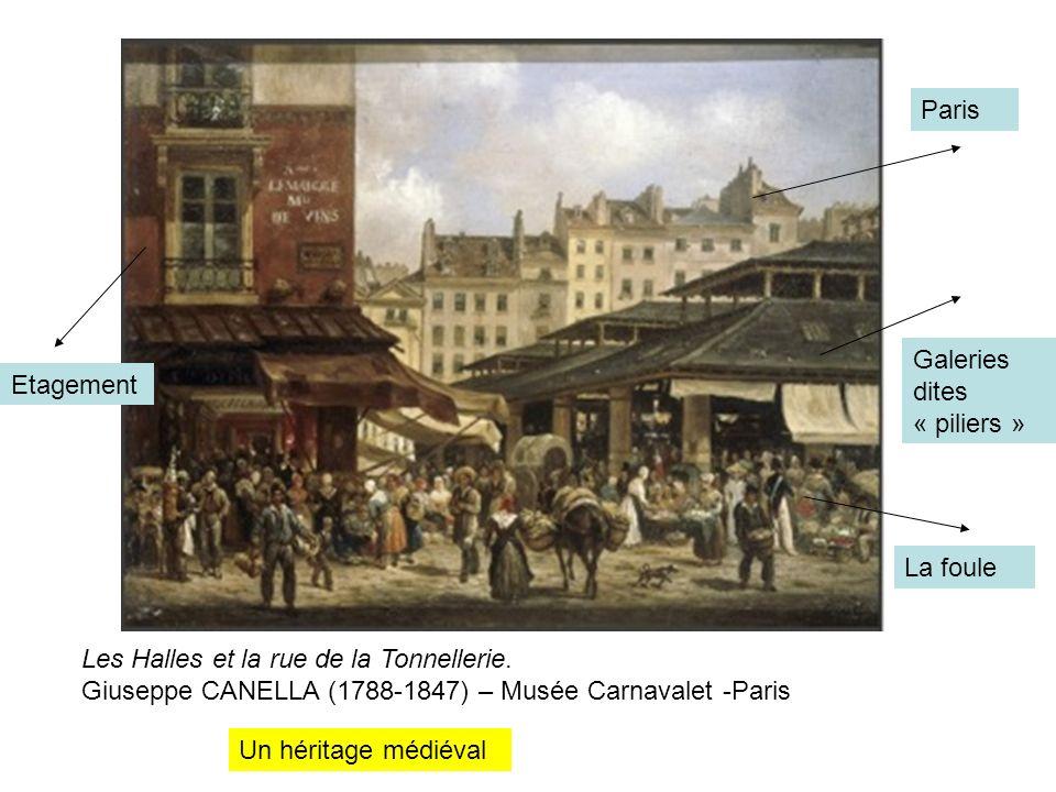 Paris Galeries dites « piliers » Etagement. La foule.