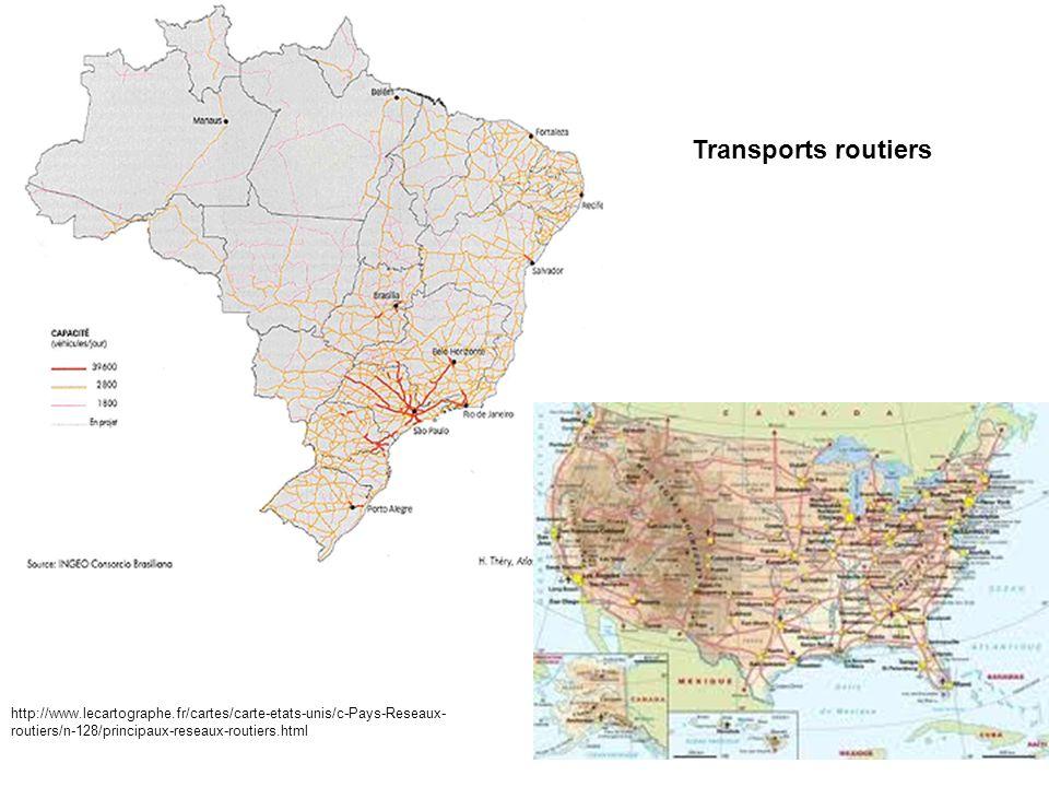 Transports routiers http://www.lecartographe.fr/cartes/carte-etats-unis/c-Pays-Reseaux-routiers/n-128/principaux-reseaux-routiers.html.
