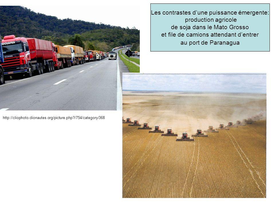 Les contrastes d'une puissance émergente: production agricole