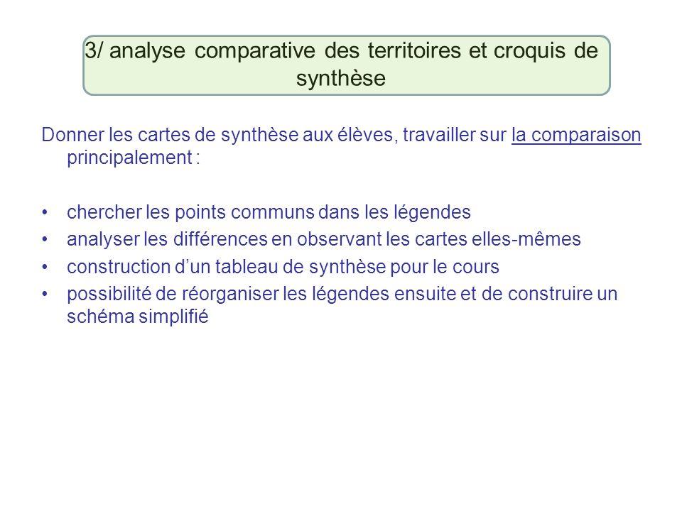 3/ analyse comparative des territoires et croquis de synthèse