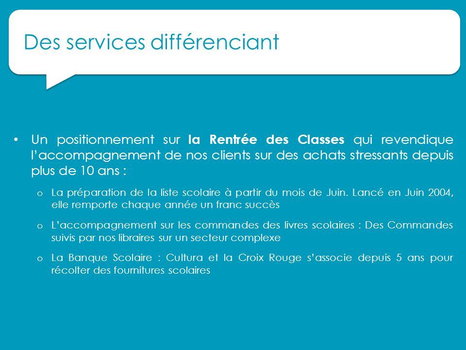 Des services différenciant