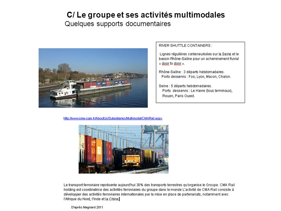 C/ Le groupe et ses activités multimodales