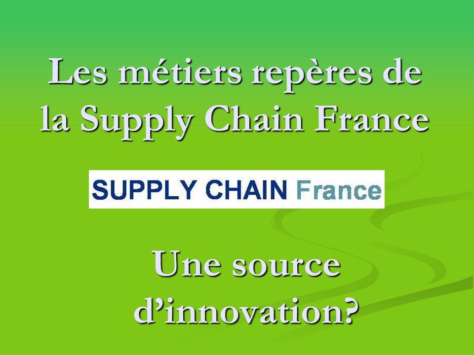 Les métiers repères de la Supply Chain France