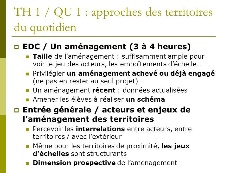 TH 1 / QU 1 : approches des territoires du quotidien