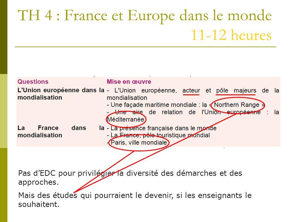 TH 4 : France et Europe dans le monde 11-12 heures
