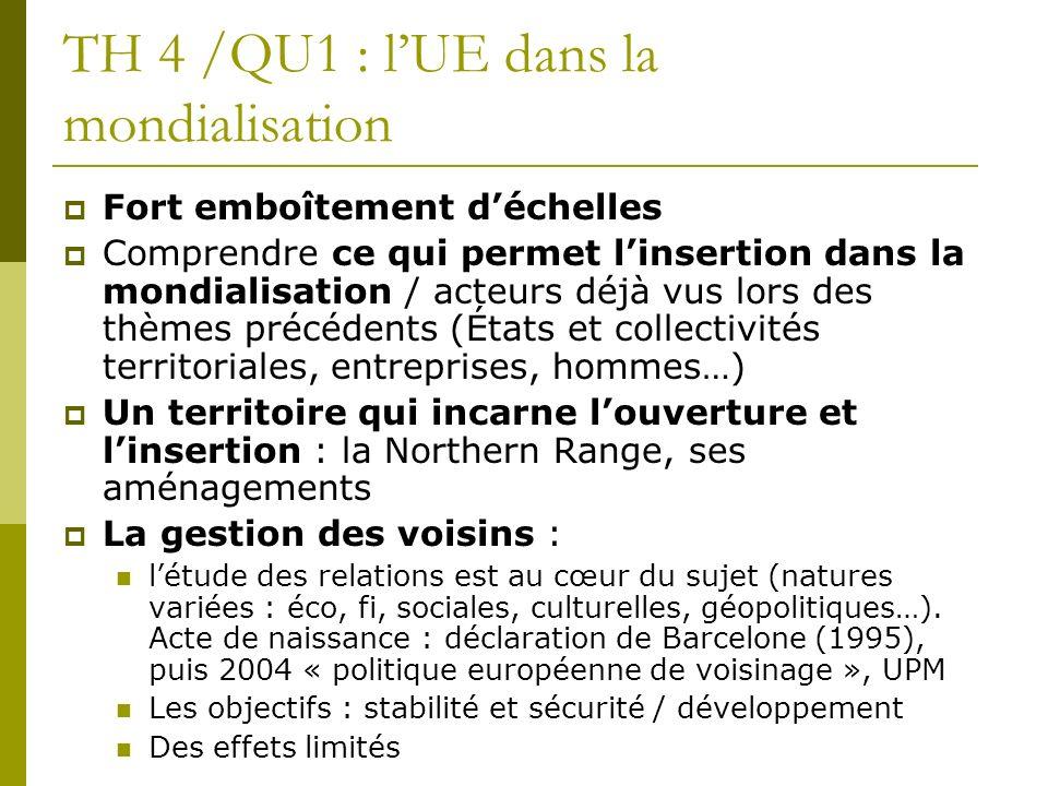 TH 4 /QU1 : l'UE dans la mondialisation