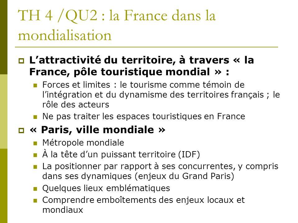 TH 4 /QU2 : la France dans la mondialisation