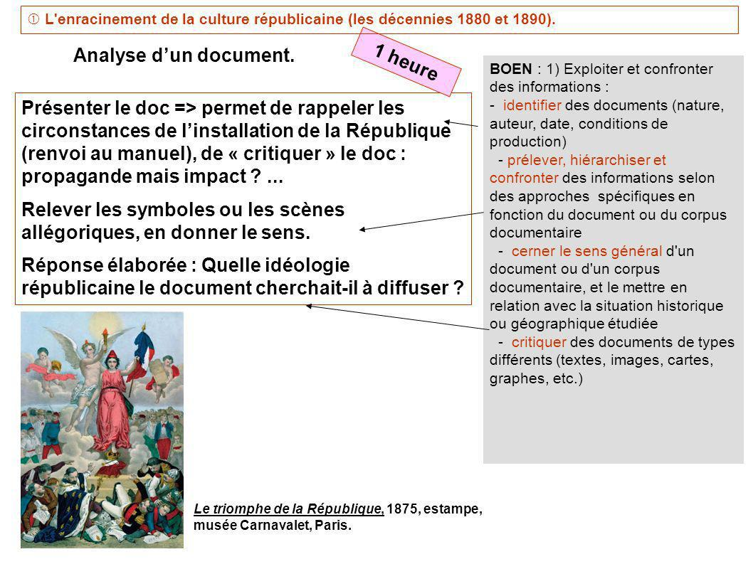 Analyse d'un document. 1 heure