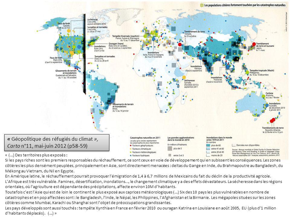 « Géopolitique des réfugiés du climat », Carto n°11, mai-juin 2012 (p58-59)
