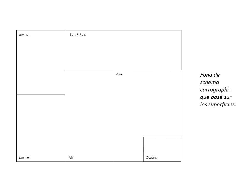 Fond de schéma cartographi- que basé sur les superficies.