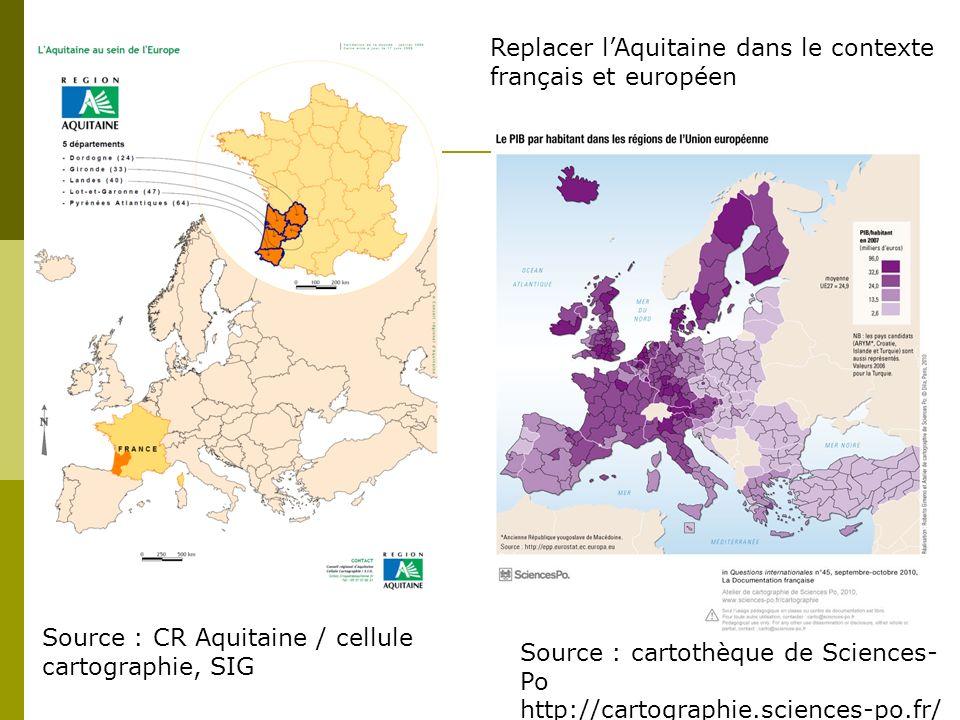 Replacer l'Aquitaine dans le contexte français et européen