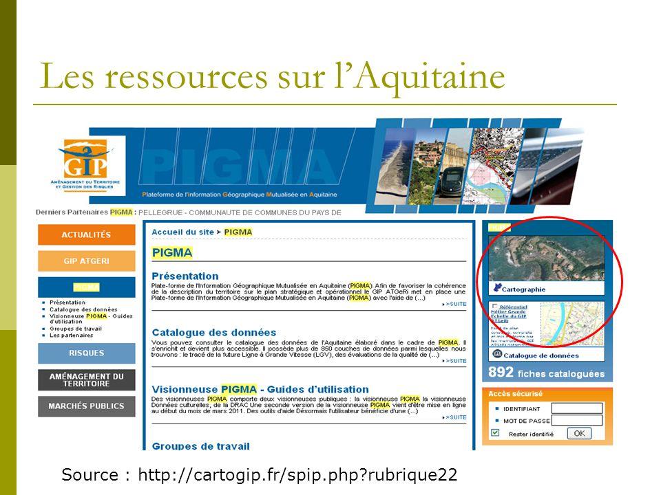 Les ressources sur l'Aquitaine