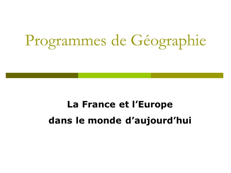 Programmes de Géographie