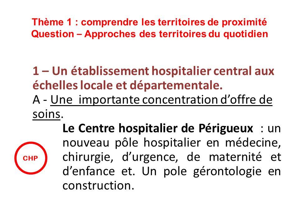 A - Une importante concentration d'offre de soins.