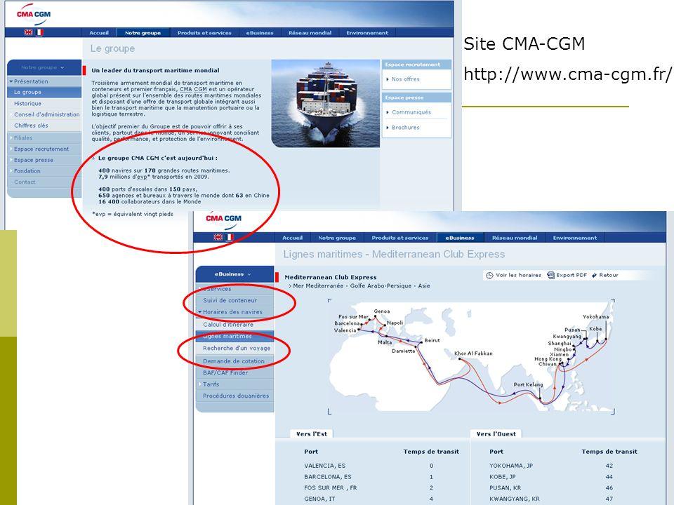 Site CMA-CGM http://www.cma-cgm.fr/