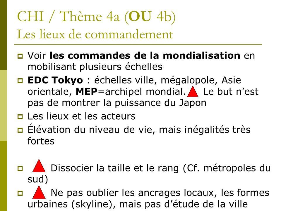 CHI / Thème 4a (OU 4b) Les lieux de commandement