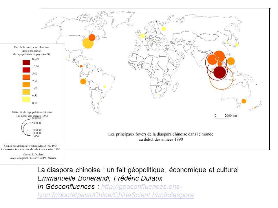 08/10/11 La diaspora chinoise : un fait géopolitique, économique et culturel Emmanuelle Bonerandi, Frédéric Dufaux.
