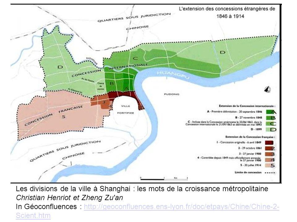 08/10/11Les divisions de la ville à Shanghai : les mots de la croissance métropolitaine Christian Henriot et Zheng Zu an.