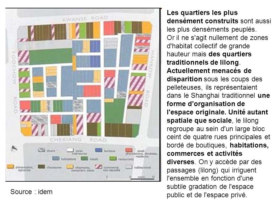 08/10/11 Les quartiers les plus densément construits sont aussi les plus denséments peuplés.