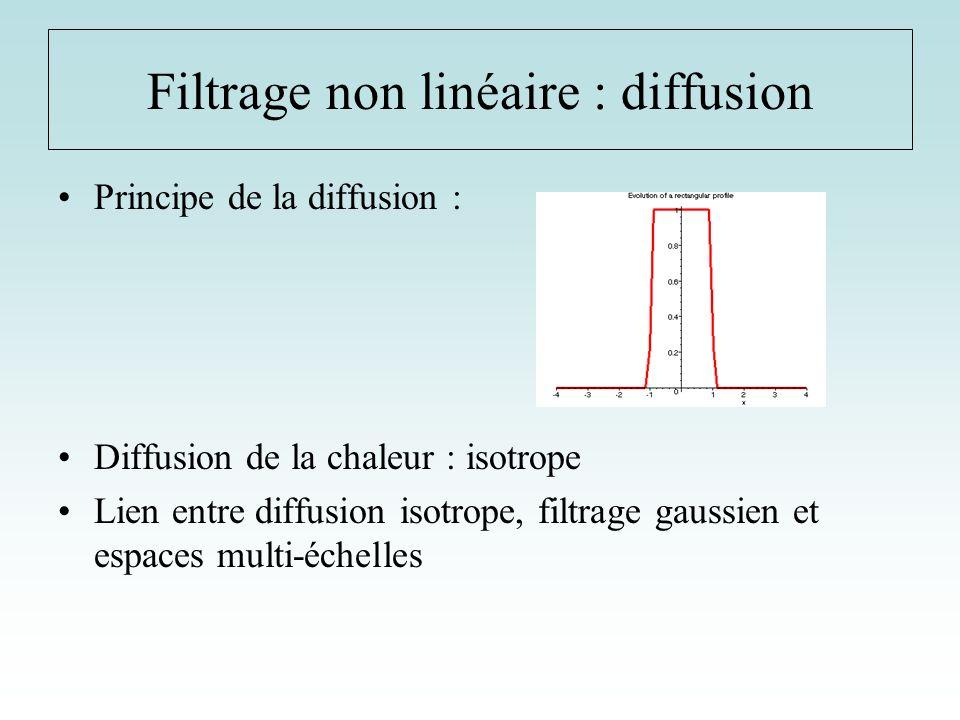 Filtrage non linéaire : diffusion