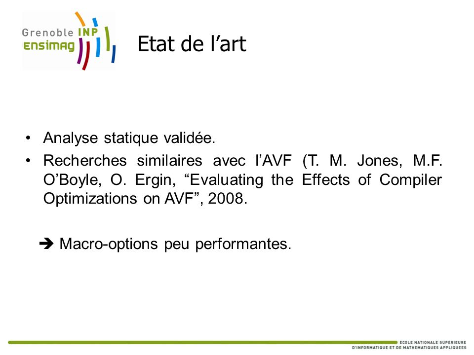 Etat de l'art Analyse statique validée.