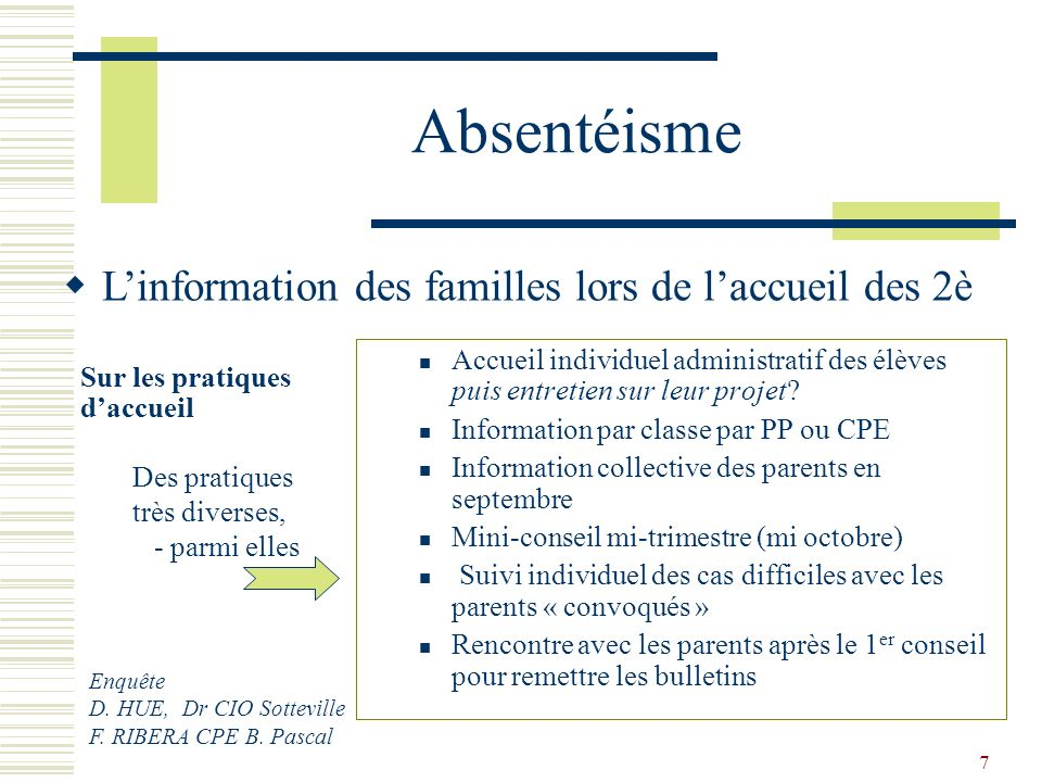 Rencontre parents cpe