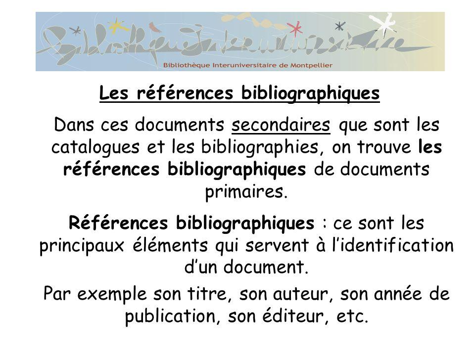 Les références bibliographiques