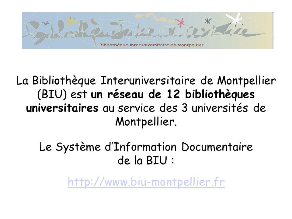 La Bibliothèque Interuniversitaire de Montpellier (BIU) est un réseau de 12 bibliothèques universitaires au service des 3 universités de Montpellier.