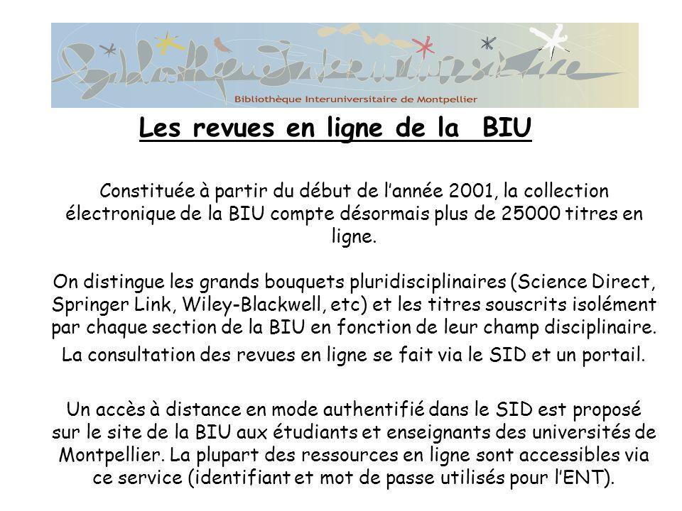 Les revues en ligne de la BIU