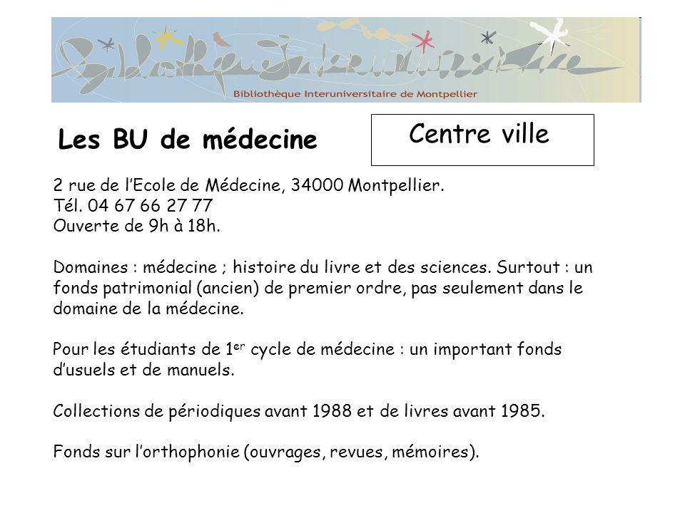 Centre ville Les BU de médecine