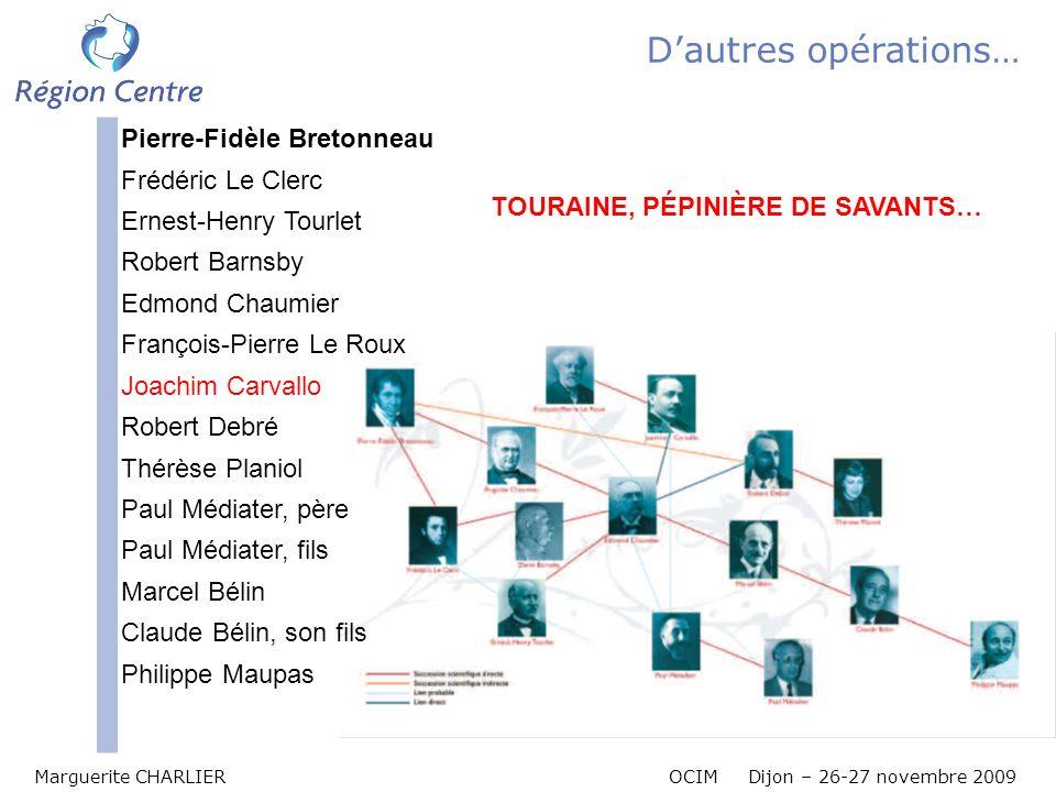 D'autres opérations… Pierre-Fidèle Bretonneau Frédéric Le Clerc