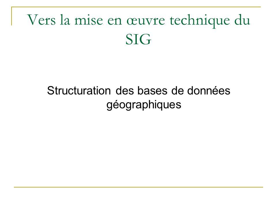 Vers la mise en œuvre technique du SIG