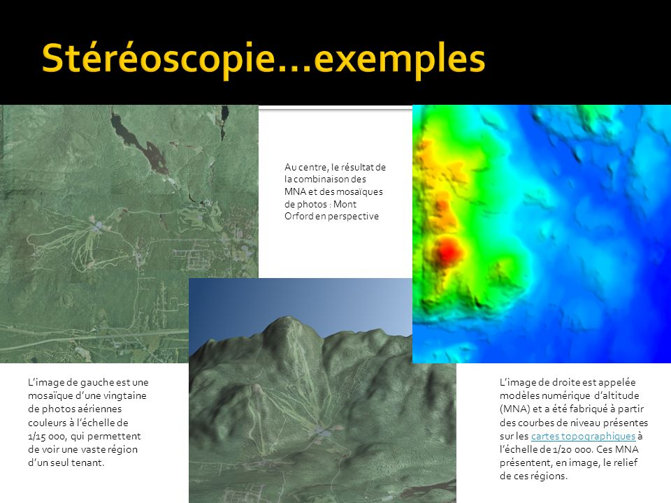 Stéréoscopie…exemples