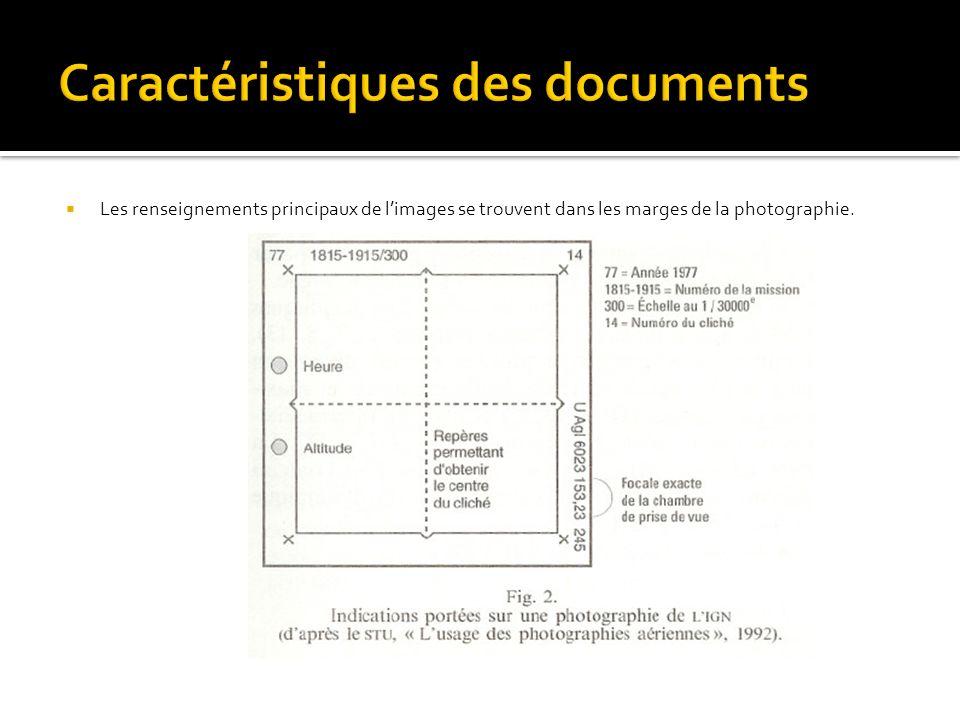 Caractéristiques des documents