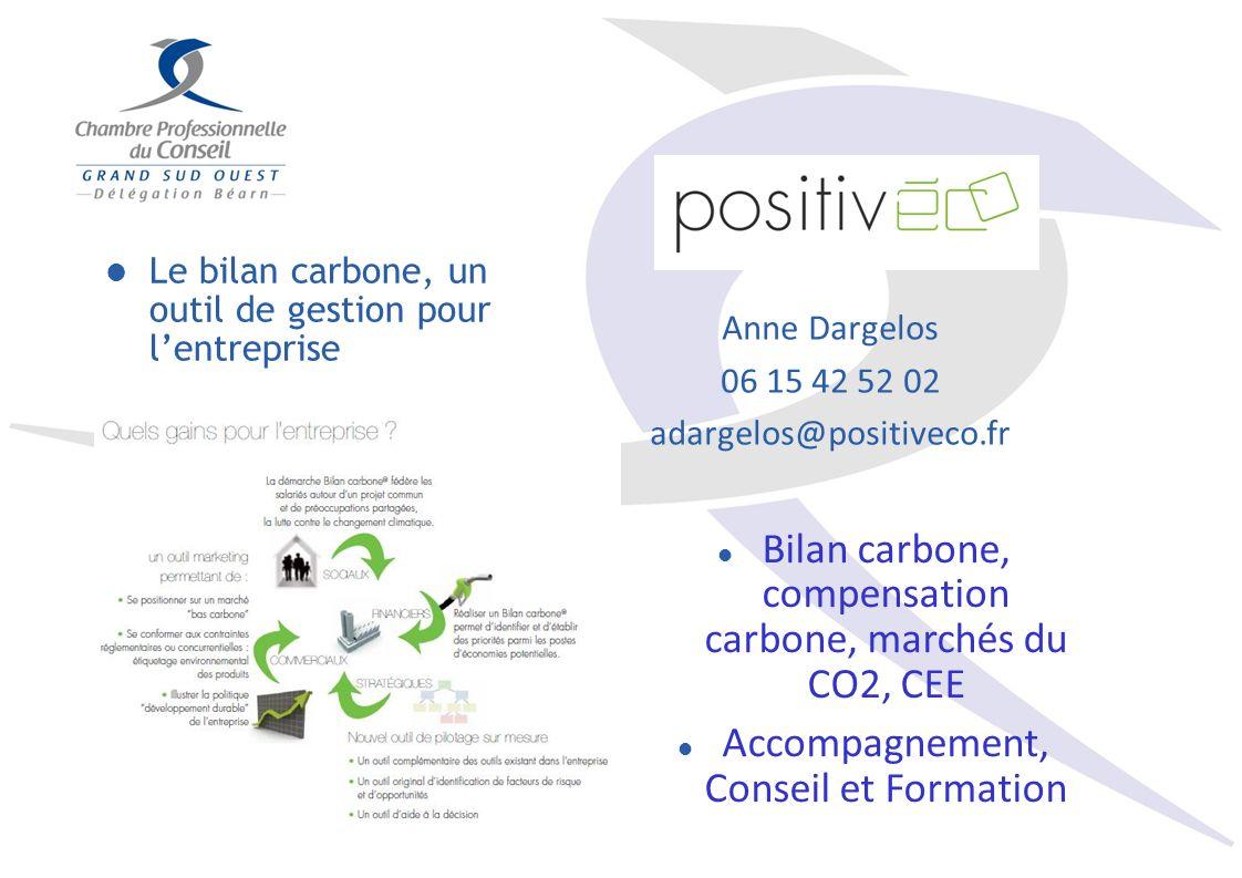 Bilan carbone, compensation carbone, marchés du CO2, CEE