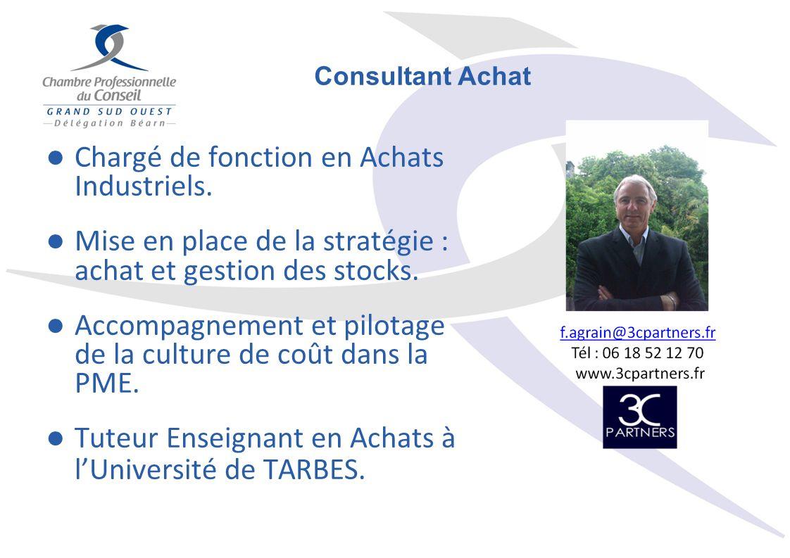 Chargé de fonction en Achats Industriels.