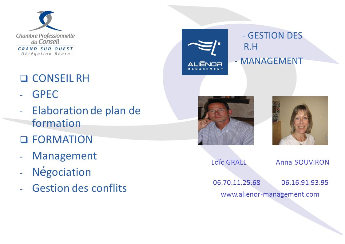 Elaboration de plan de formation FORMATION Management Négociation