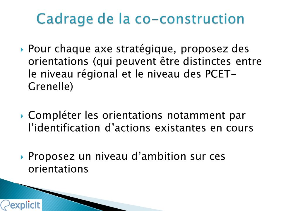 Cadrage de la co-construction